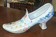 Antique Shoe Vase Continental Faience Tin Glaze
