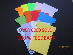 T Cards Size 2 T Card Job Cards Cardplan Nobo Qty 100 Free P&P 15 Colours