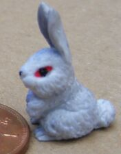 1:12 Scale A Grey Polymer Clay Rabbit Tumdee Dolls House Miniature Accessory Ga