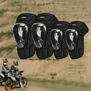 Motorcycle Knee Elbow Pads Set Racing Protective Gear BMX Bike Joint Guard Adult