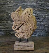 Teak alt Holz Skulptur Wurzel Baumscheibe Kunst Statue Deko Holzobjekt Ho.1982
