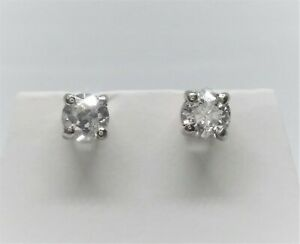 $1,899.00 Estimated .45CTW REAL GENUINE Diamond Stud Earrings 14k SOLID Gold WOW