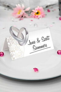 WEDDING RING TABLE PLACE NAME CARDS 36 PACK