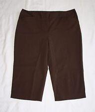 Apt 9 Stretch Ava Womens Chocolate Brown Dress Capris Capri Pants W30.5 H37 R10