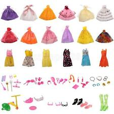 18 Fashion Handmade Dresses Clothes + 50Pcs Doll Accessories for Barbie Doll