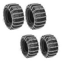 Front & Rear TIRE CHAINS 2-LINK for John Deere 430 445 455 Tractor Snow Blower
