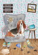"Basset Hound Dog A6 (4"" x 6"") Blank Card / Notelet Design By Starprint"