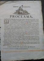1798 PROCLAMA SULLA FESTA DELLA REPUBBLICA CISALPINA A MODENA CON DESCRIZIONE