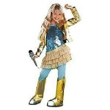 HANNAH MONTANA~GOLD COSTUME+WIG~Girls 7/8 ~NWT~Disney Store