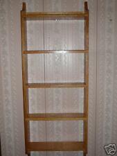 Solid Oak Mission Style Wall Shelf