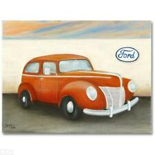 1940 FORD DELUXE~Sirpa Baylis-Heikka ~ Original Oil Canvas ~ Hand Signed ~ COA