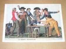 MENU AIR FRANCE 6 / SCENE REVOLUTION 1789 / RARE / TBE