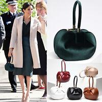 Meghan Markle Royal Wedding Clasp Tote Clutch Handbag Genuine Leather Choose One