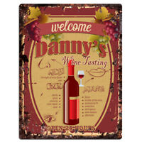PMWT0101 DANNY'S Wine Tasting Rustic Tin Chic Sign Wine Bar Decor Gift Ideas
