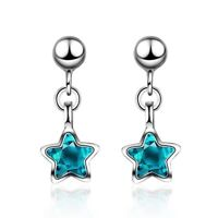925 Sterling Silver Full Gems Crystal Stud Earrings Womens Girls Jewellery Gift
