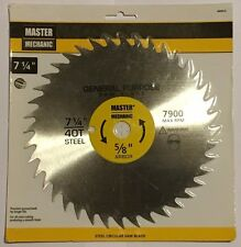 "Master Mechanic 494914, 7-1/4"" x 40T General Purpose Saw Blade"