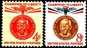 USA 1961 Sc1174-5 2v mnh Champion of Liberty Issue,Mohandas K. Gandhi
