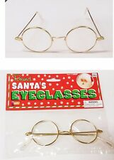 Granny Round Glasses Santa Wizard Adult Costume Halloween Christmas Party