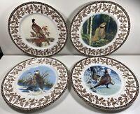 National Wildlife Federation - Wild Birds - Set Of 4 Dinner Plates - Brown Leaf
