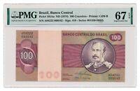 BRAZIL banknote 100 Cruzeiros 1974 PMG MS 67 EPQ Superb Gem Uncirculated