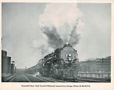 vintage NEW YORK CENTRAL Issued Picture?Photo?Print: MOHAWK #3130 Steam Engine