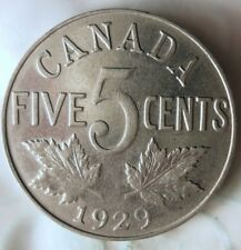 1929 CANADA 5 CENTS - HIGH GRADE - Great Coin HV38