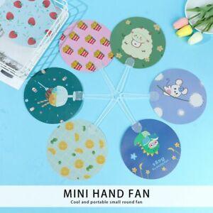 10 Styles Plastic Cartoon Children's Hand Fan Round Fans Portable Fan Summer