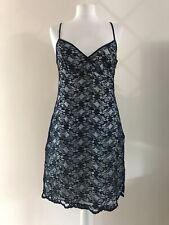 Vestido de Encaje señoras Azul Vintage por silbidos Talla 12