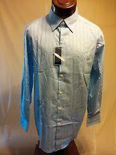 NWT ALFANI Aqua Sea / Light Blue Long-Sleeve Button-Up Shirt Size Medium