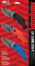 Set de 3 Couteaux Kershaw Shuffle Multi-Tool Lame 8Cr13MoV Manche KS8700KITX