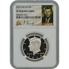 2010-S John Kennedy Proof Silver Half Dollar Coin NGC PF70 Ultra Cameo