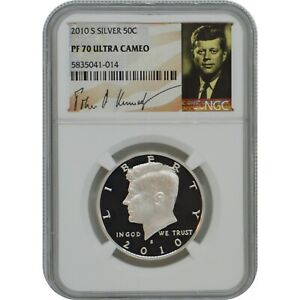 2010-S John Kennedy Proof Silver Half Dollar Coin NGC PF70 Ultra Cameo