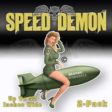 Pinup Vintage bomb Nose art WWII Blonde Bombshell Stickers Decals Toolboxes #V01