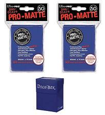 Ultra Pro Magic 100 Deck Protectors Blue Matte /& Deck Box Lot Brand New