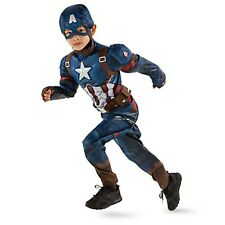 Boys CAPTAIN AMERICA CIVIL WAR Costume Gloves Mask Child Small 5 6 Disney Store