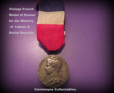 Vintage French Medal 0f Honour for Labour of the Ministry& Ribbon.c1979.AH6079