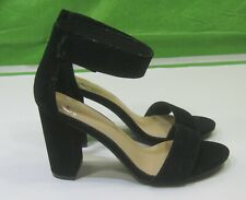 """new ladies black 3.5""""Block High Heel Open Toe ankle Strap Sexy Shoes Size  7.5"""