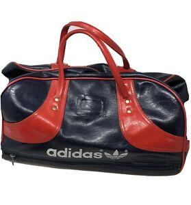 Adidas Retro Vintage 1980's Navy Blue Red Gym  Bag Large