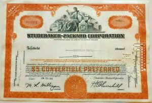 Lehman Bros. issued stock certificate > Studebaker Packard Brothers