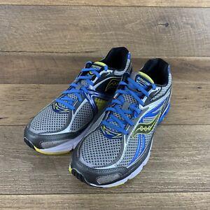 Saucony PowerGrid Omni 12 Grey/Blue/Yellow 20206-2 Running Shoes Men's 12.5 US