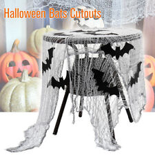 15 Pies Halloween Brillo Murciélagos Negro Drapeado Fantasma Decoración Kit