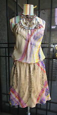 SUPER CUTE! *SINGLE Brand* Dress Colorful Beaded Embellished Small Silk BARNEYS