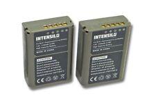 2x Intensilo Batteria 1140mAh 7.6V Li-Ion per Olympus OM-D / E-M1 / Pen-F