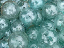 "Japanese Glass Fishing Floats 2"" Lot-5 Round Net Buoy Balls Authentic Vintage"
