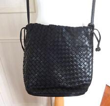 Bloomingdales Intrecciato Woven Leather Drawstring Shoulder Bag