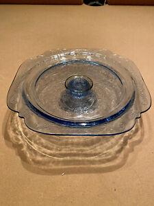 Blue madrid cake stand