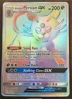 Pokemon Card  ALOLAN PERSIAN GX  Secret Rare  257/236 COSMIC ECLIPSE ***MINT***