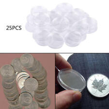 25Pcs 38mm Airtight Capsule Coin Holder Case Box For Morgan Peace Silver Dollar