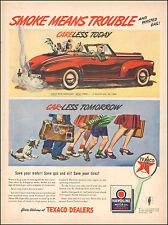 1942 Vintage ad for Texaco Dealers`Retro Car Emblem Dog Shoes  062817)