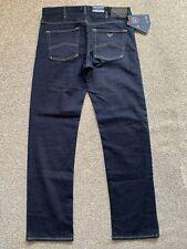 BNWT Armani Jeans J21 Regular Fit Mens Blue Denim Jeans | 32W 32L